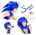 Human!Sonic #2 by TanyaWind