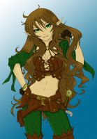 Lineart elf colored by wensly