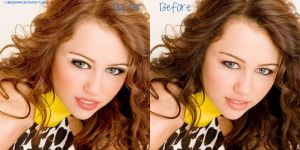 Miley retouch by Dinosauuur