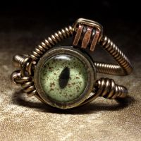 Alligator eye ring by CatherinetteRings