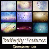 Free Set of Butterfly Textures by ibjennyjenny