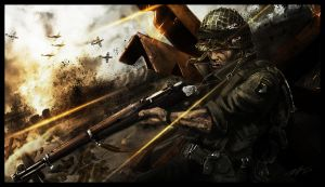 Soldier WWII by Azeltas