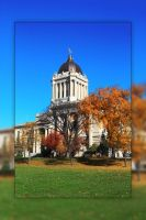 Fall at The Manitoba Legislative Building by Joe-Lynn-Design