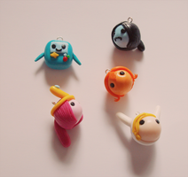 C-Mellow-bunnii Adventure time charms by FairysLiveHere