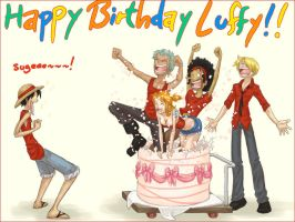 Happy Birthday Luffy by SybLaTortue