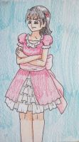 Noka in a Pink Frilly Dress by Punisher2006