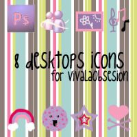 Purple and Pink icons by lilia-kltz-schfr3