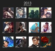 2013 art summary by maXKennedy