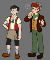 Older Pinocchio and Lampwick by badboyLampwick