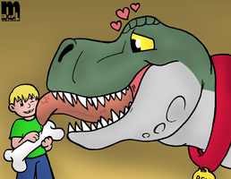 Konner's Dinosaur by Cartcoon