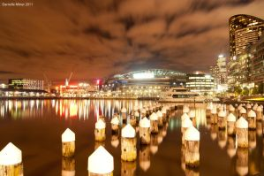 Etihad Stadium at Night by DanielleMiner