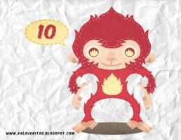 DAY 10 - FUSION YOUR FAVORITE ANIMAL WITH FIRE by ViciousJulious