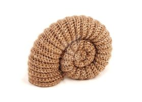 Pyritised ammonite amigurumi no.2 by kaelby