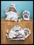 Tiger cat hooded towel by Kjiram