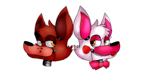 Foxy and Mangle by ChocoWhite-QueenDuck