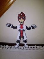 The model of a Pixelated Alien by rebornflame