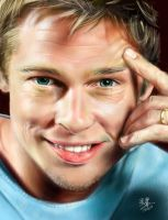 iPad painting of Brad Pitt by chaseroflight