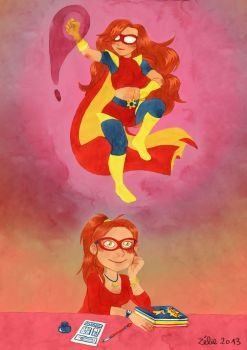 Super-heroine by zelie