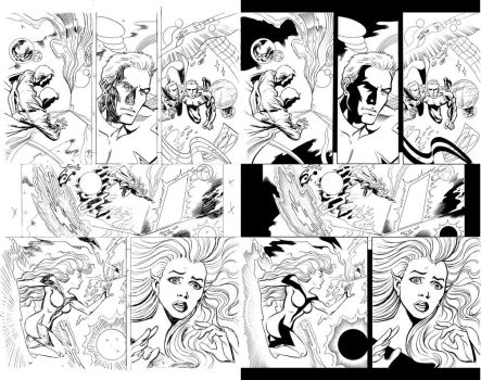 Inking Mike Collins pencils 1 by IanDSharman