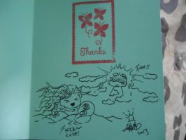 thank you card from Zelda 2 by dottypurrs