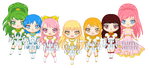 ChibiP: Wish Girls by SugarRoseDoll