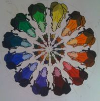 Frog And Beetle Color Wheel by TheLittlestGiant