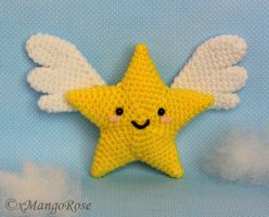 Star with Wings Amigurumi Crochet Pattern by xMangoRose