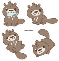 Chibi Giant River Otter by Daieny