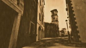 Back Street - lith print by JV-Andrew
