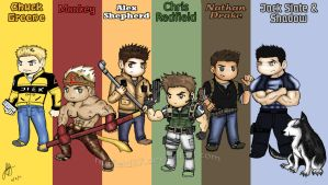 My Top 6 Favorites Characters by redfield37