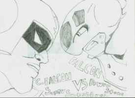 Captain Falcon VS Falcon by KillaIntent
