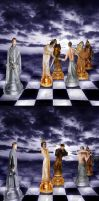 The chess war by Fawania