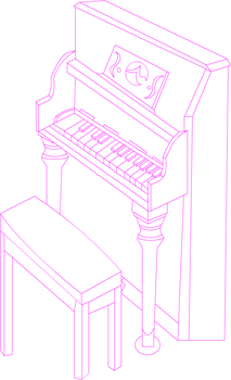 :WIP: A piano and a seat by FireUnleaser