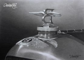 1930 Bentley Hood Ornament by dangaranart