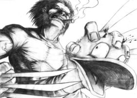 Wolvie and Donald by Tatong