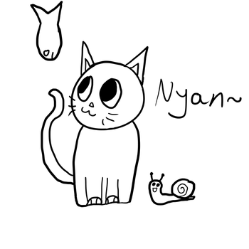 Cat, Fish and Snail by DavidTehAwesome