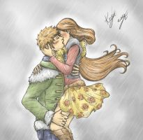 Kiss In The Pouring Rain by sarumanka