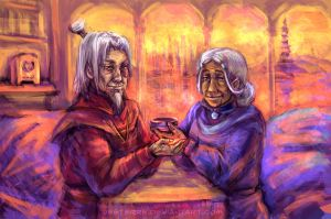Zutara: warm your tea by jesterry