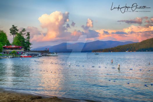 Sunset from the Beach: Lake George, New York by Ljoyce12