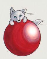 Wolf with balls... by nelena