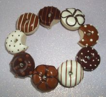 Choccy fudgy doughnuts by PORGEcreations