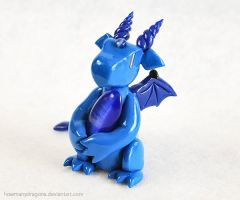 Blue Blue Dragon by HowManyDragons