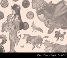 Okami Canine Warrior Brush Set by Skykittens