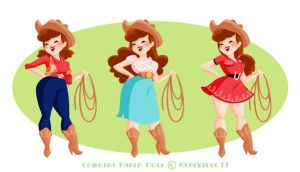Cowgirl Paper Doll by GenevieveFT