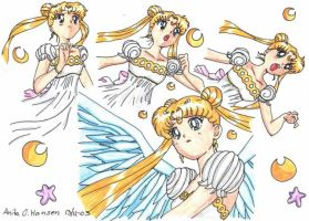 Moon Princess Serenity Colour by usagisailormoon20