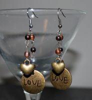 Boho Love Earrings by peacenikchik