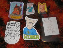 Con badges 2012 by Rennon-the-Shaved