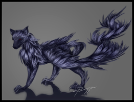 wolf crow by Psunna