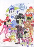 The Gang as CandyLand by MushRoomRobot