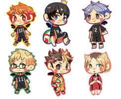 Haikyuu stickers!! by the-secondstar